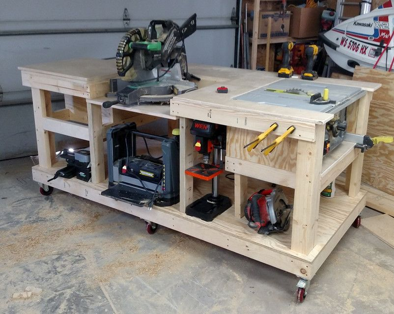 Ordinary Tool Bench Ideas Part - 2: Mobile Woodworking Bench, Framing Is Mostly So The Dimensions Are The Rough  Standard I Just Drew This Up So I Could See If .