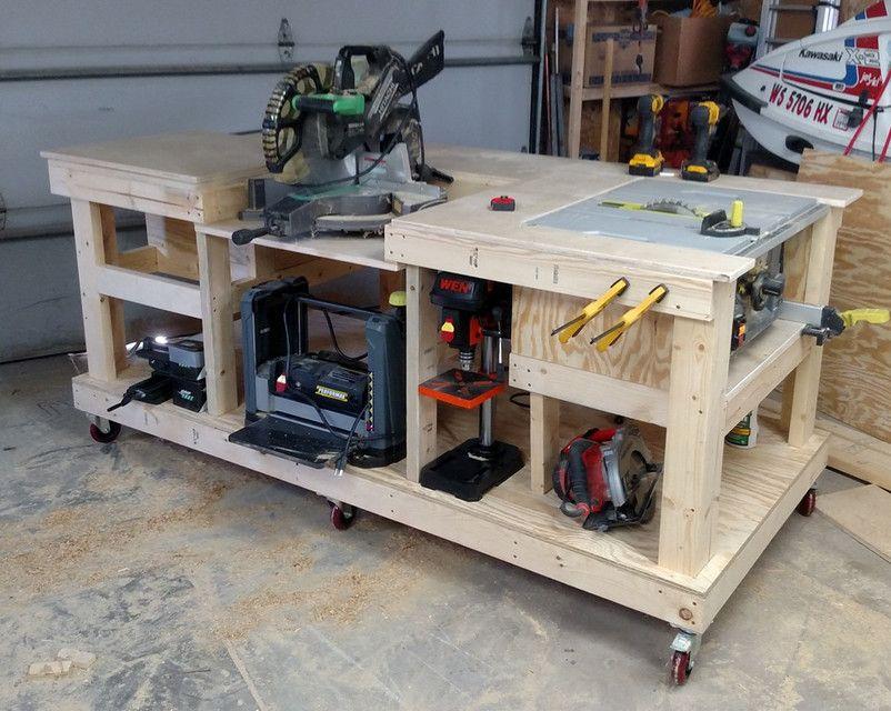 Mobile workbench ptc creo parametric ptc creo parametric for Table saw workbench woodworking plans