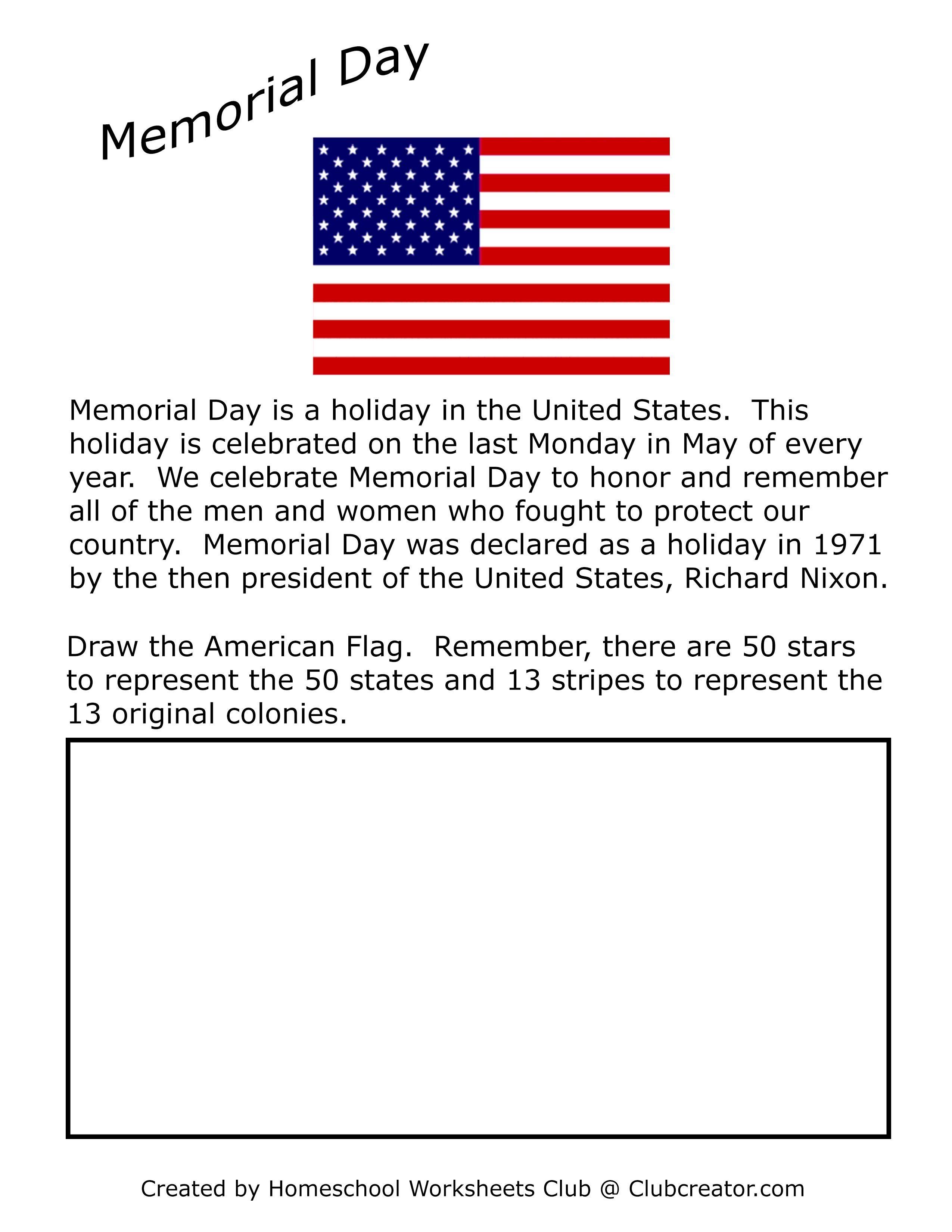 Memorial Day Worksheet Homeschool Worksheets Writing Practice Worksheets Writing Practice