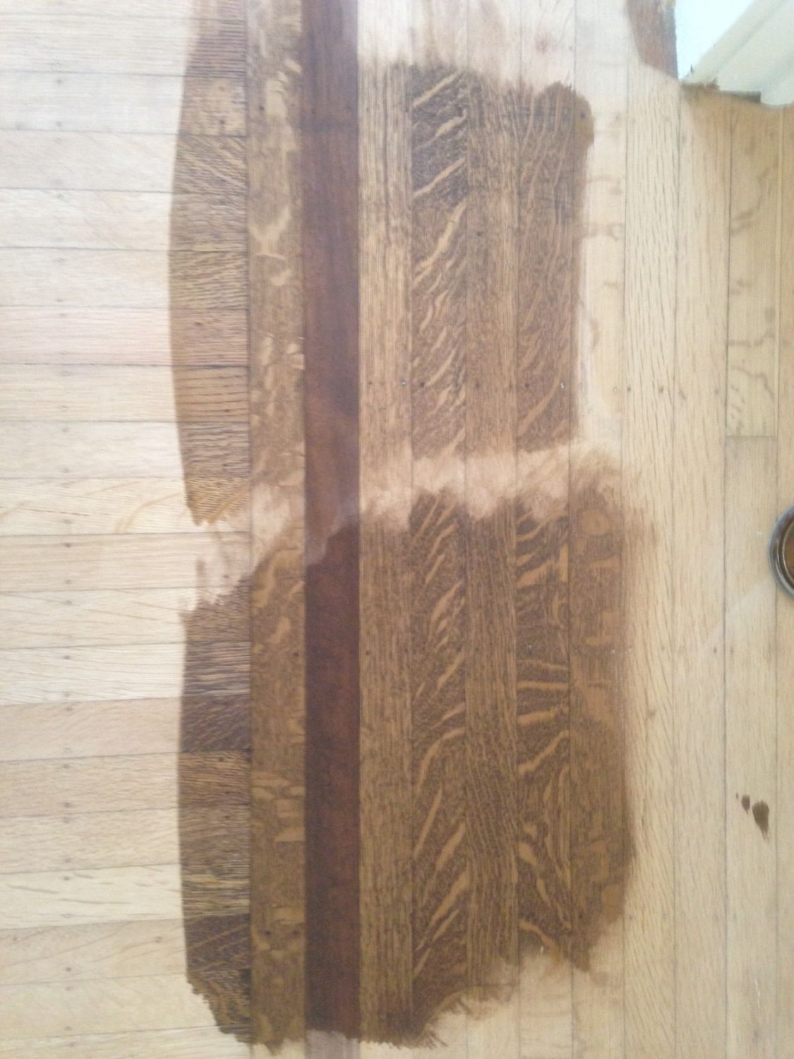 Showing How Quot Water Pop Quot Darkens The Effect Of Stain On The