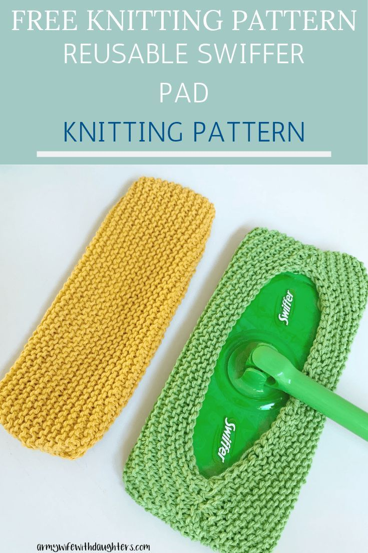 Reusable Swiffer Pad Knitting Pattern- Free