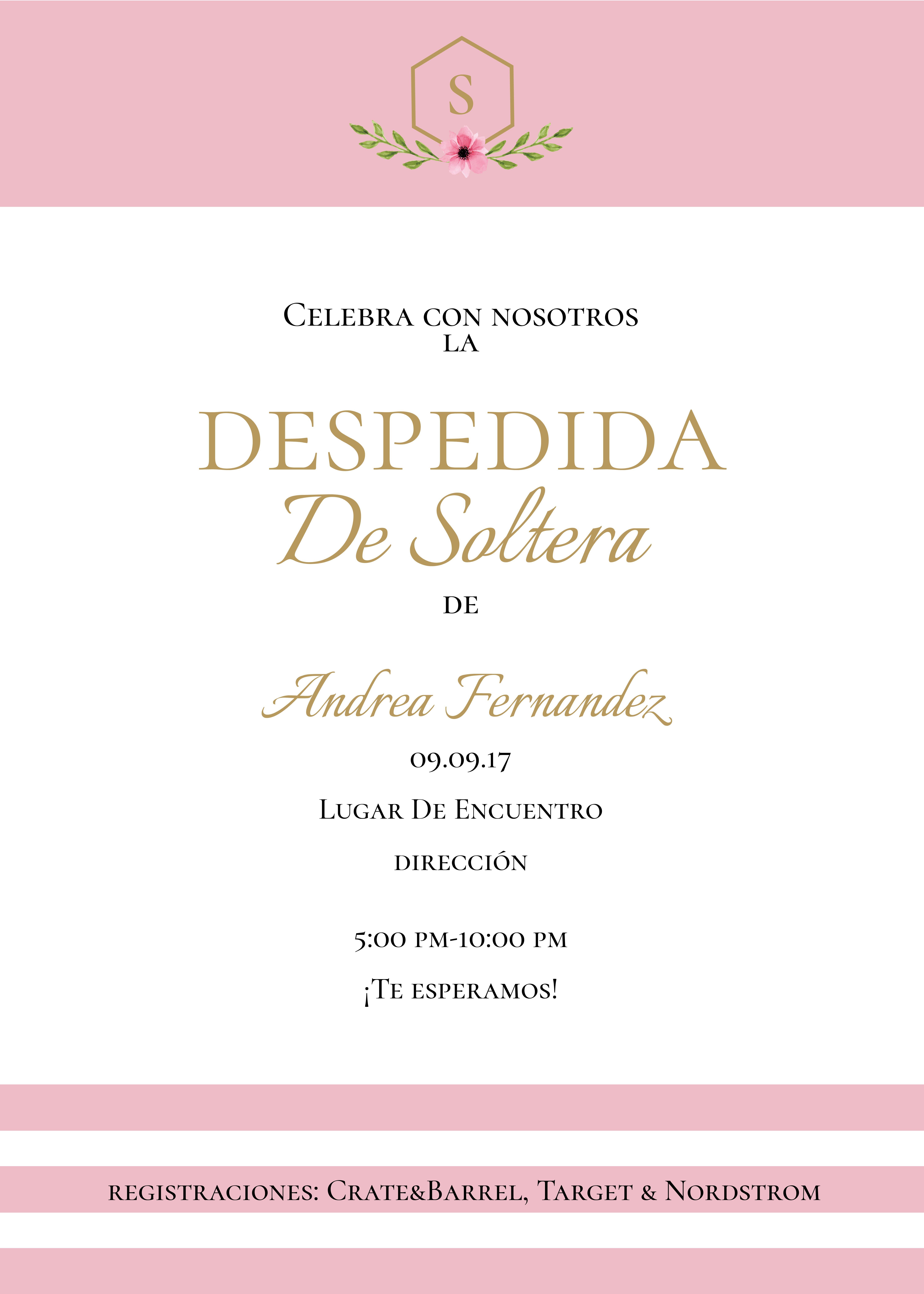 Invitacion Imprimible y Digital Para Despedida De Solteras [Azul ...