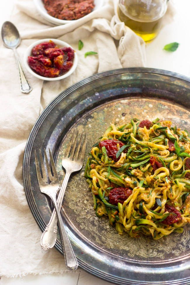 Raw sundried tomato sauce with zucchini noodles an easy meal that raw sundried tomato sauce with zucchini noodles an easy meal that is big on flavor forumfinder Choice Image