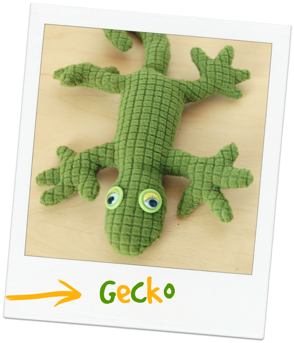 Gecko Stoffreste DIY Nähen Reptilien Reptil Stofftier Kuscheltier ...