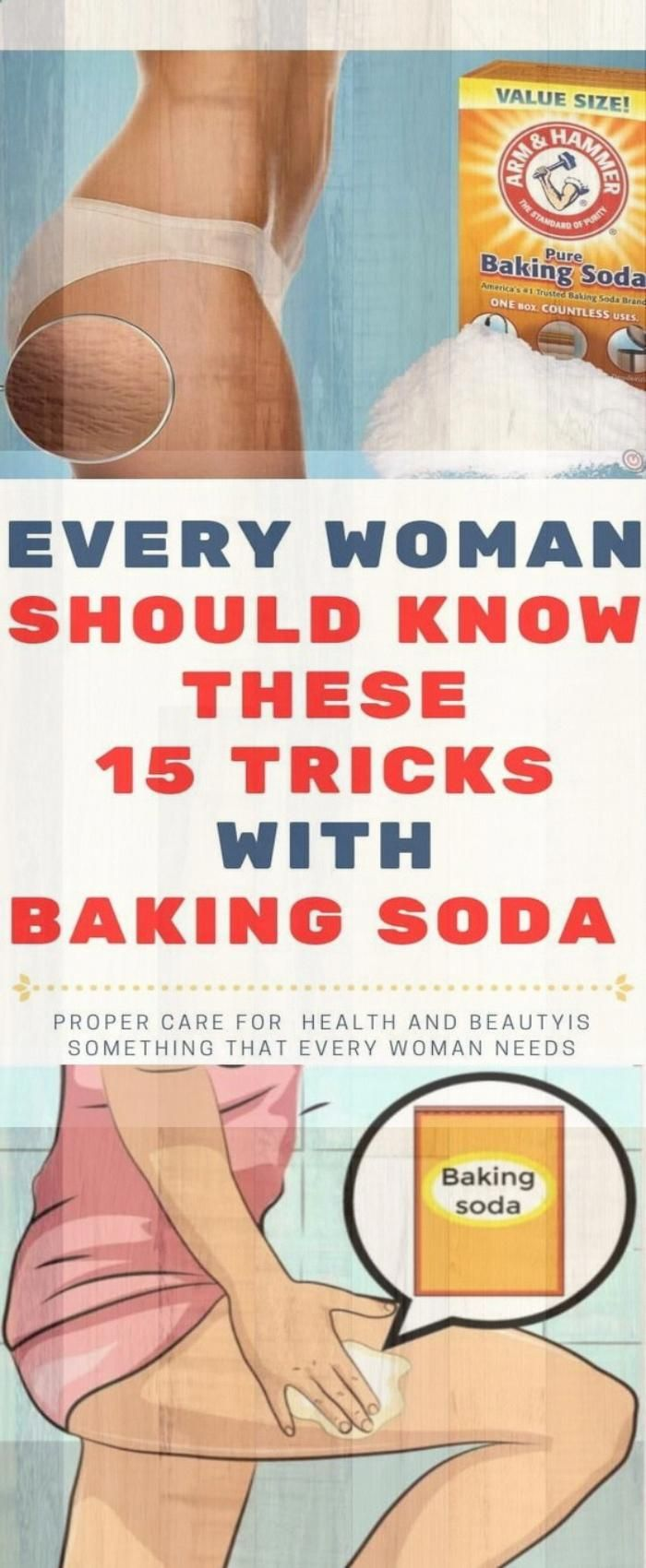 Every Woman Should Know These 15 Tricks With Baking Soda!!! #BakingSodaBenefits #health #fitness #tr...