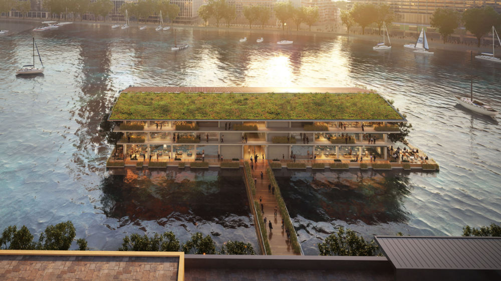 Powerhouse Company Has Designed A Floating Office In Rotterdam For