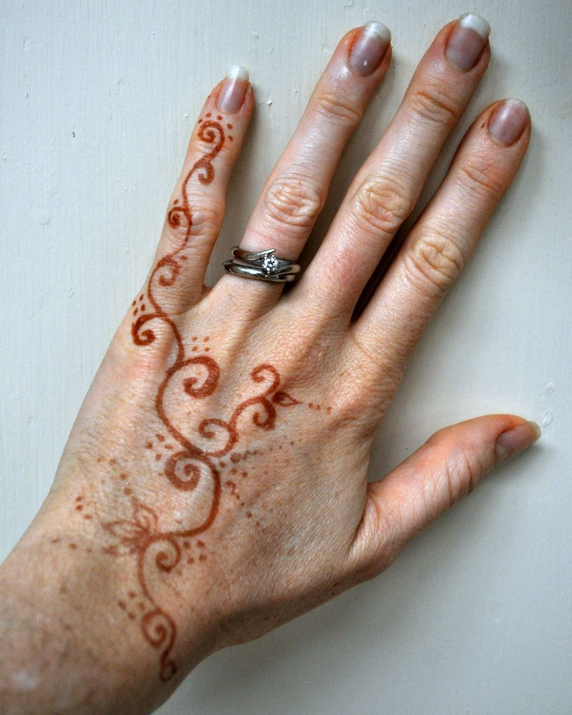Easy Henna Tattoos Hand Henna hand tattoo love anime