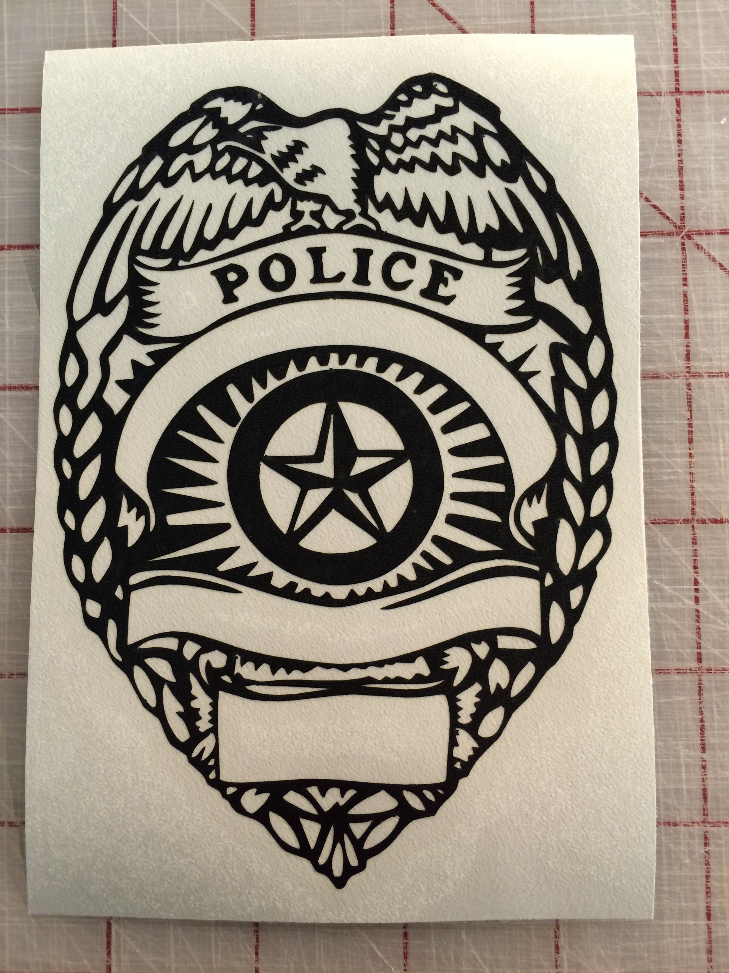 Police Decal Just made.. Burlap art, Police decal