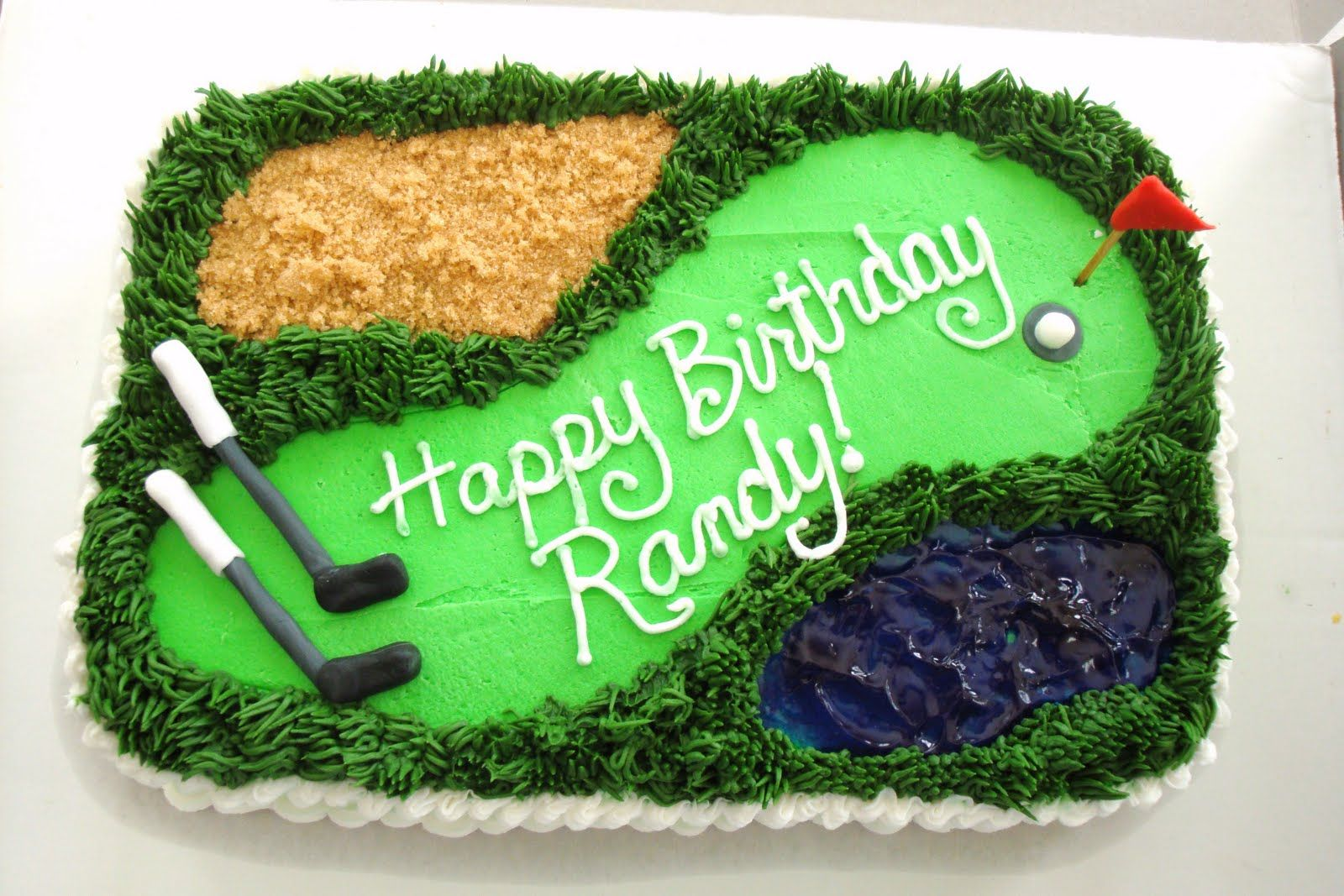 Magnificent Randys Birthday Cake With Images Golf Birthday Cakes Golf Funny Birthday Cards Online Eattedamsfinfo