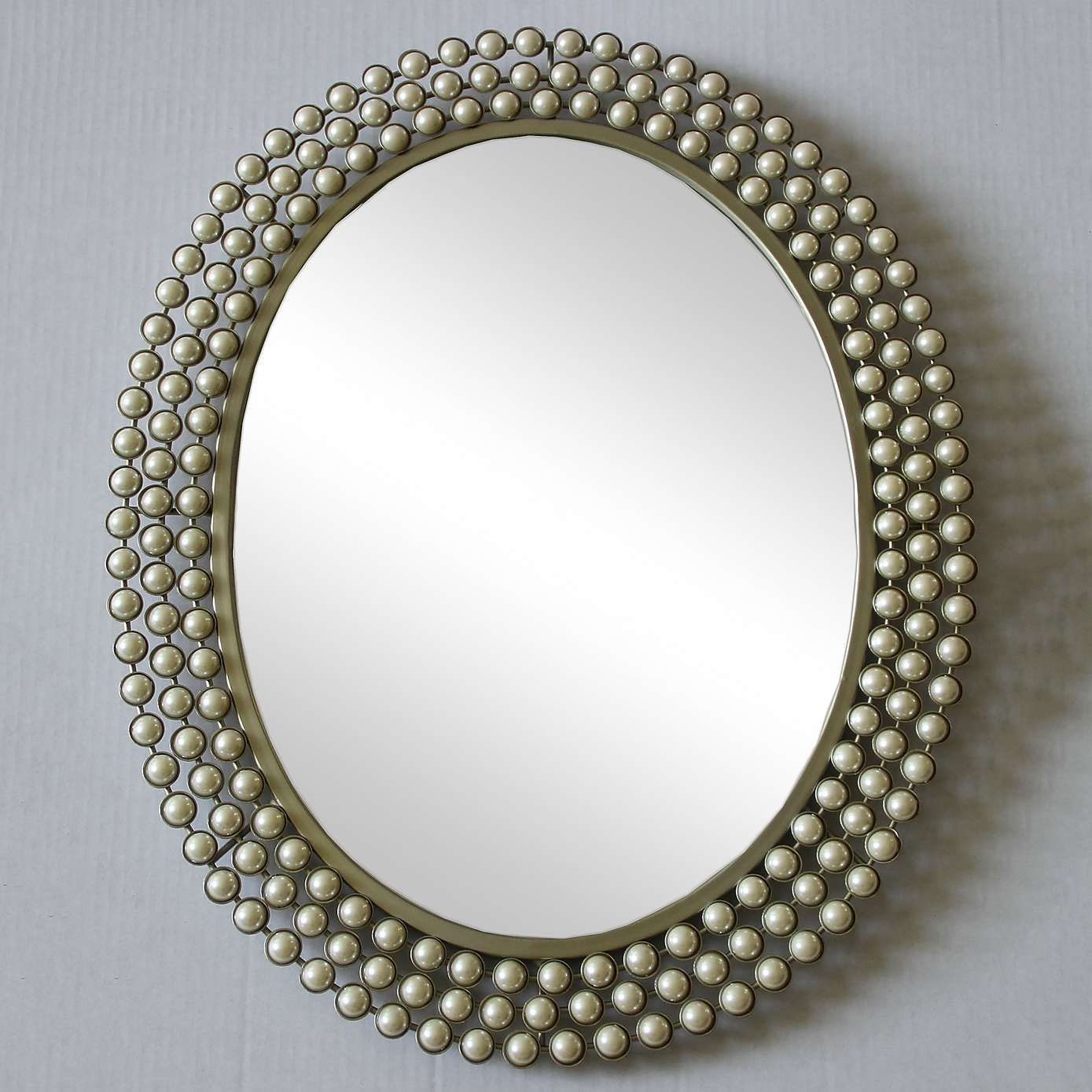 Dunelm Bathroom Accessories Cream Pearl Effect Wall Mirror Dunelm Home Accesories