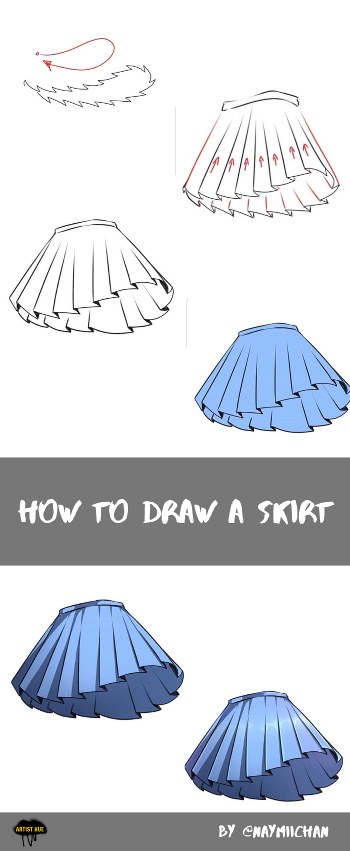 How To Draw A Skirt How To Draw Skirt Drawing Anime Clothes Anime Skirts