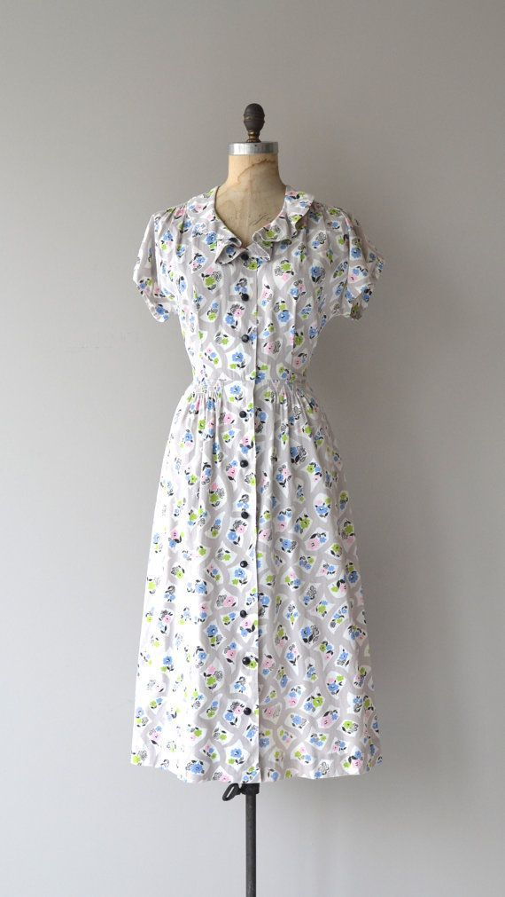 1940s Day Wear: Button Front Sundress - Google Search