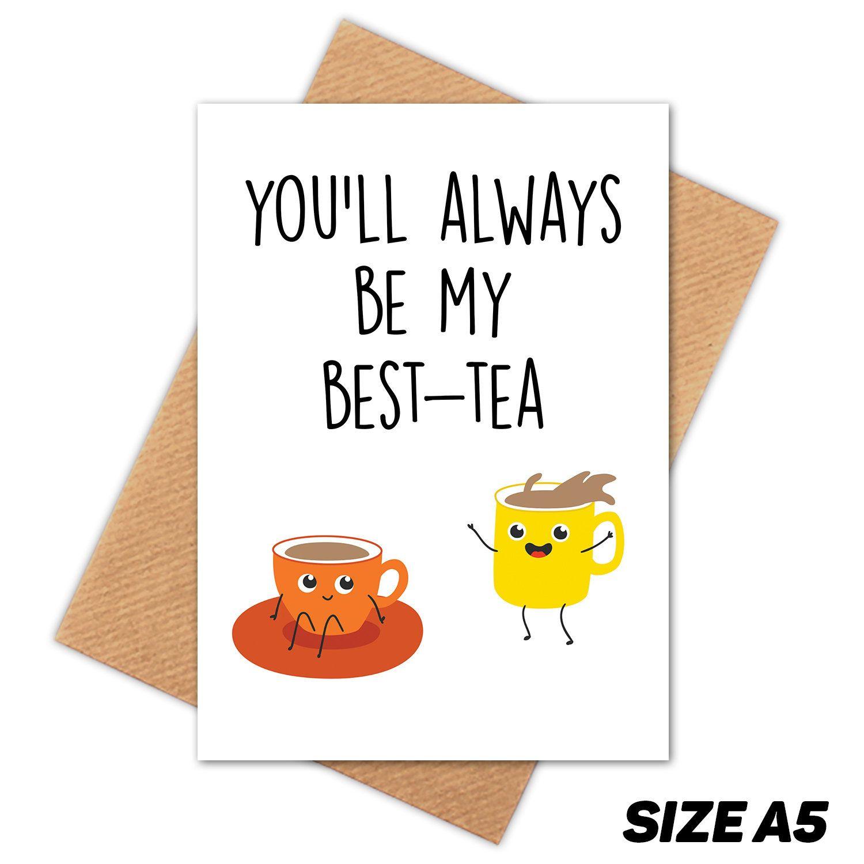 Besttea bestie happy birthday card friend birthday card