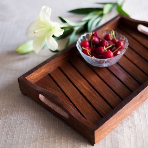 Wooden Decorative Trays Classy Slat Tray  Diy And Crafts  Pinterest  Trays Table Tray And Design Decoration