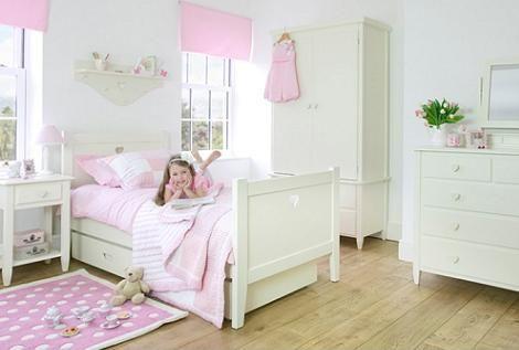 habitacin para nia en color blanco - Habitaciones Nias