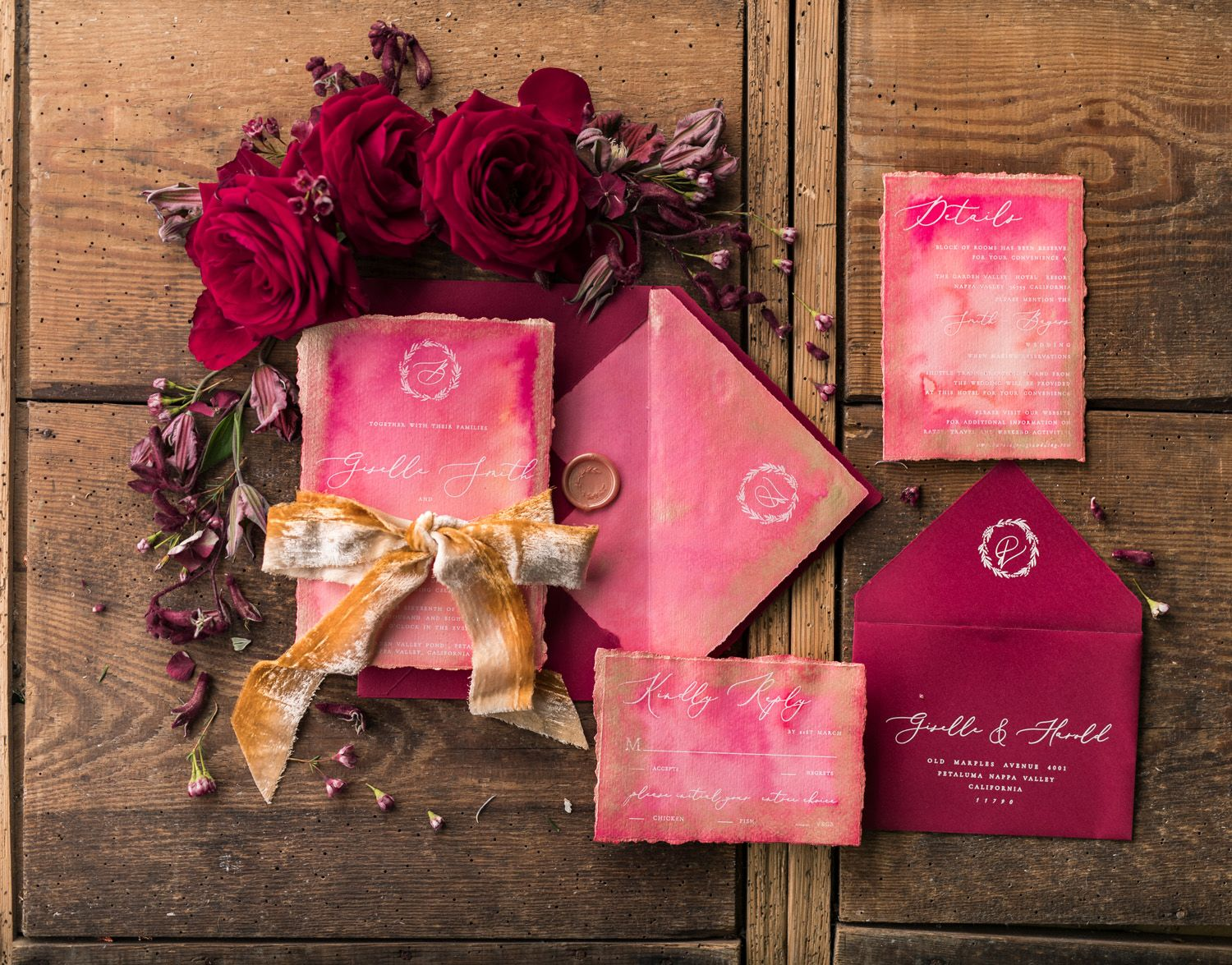 TOP 10 most romantic Vintage Flowers Wedding Invitations | Romantic ...