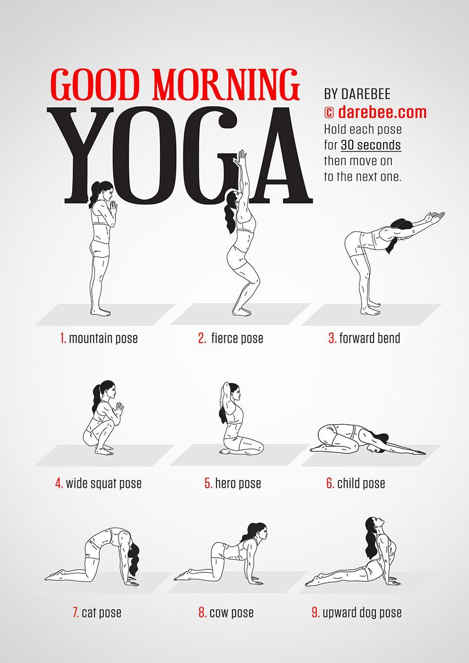 Good Morning Yoga workout by #Darebee #workoutwednesday #workout #fitness