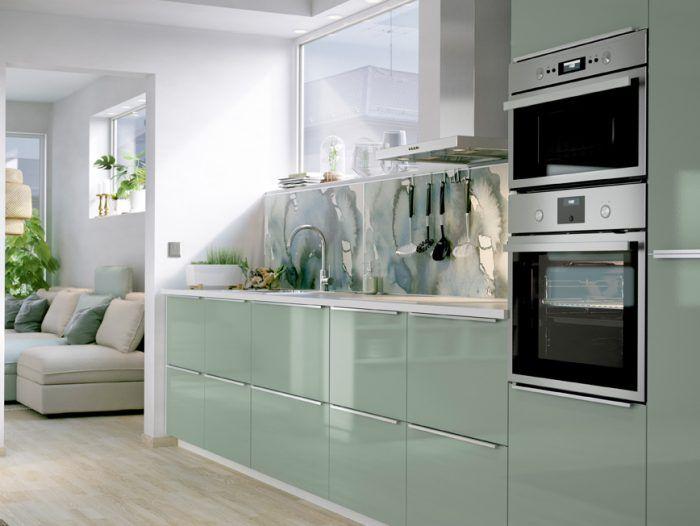 cuisine verte ikea Cuisine Pinterest Villas and Kitchens