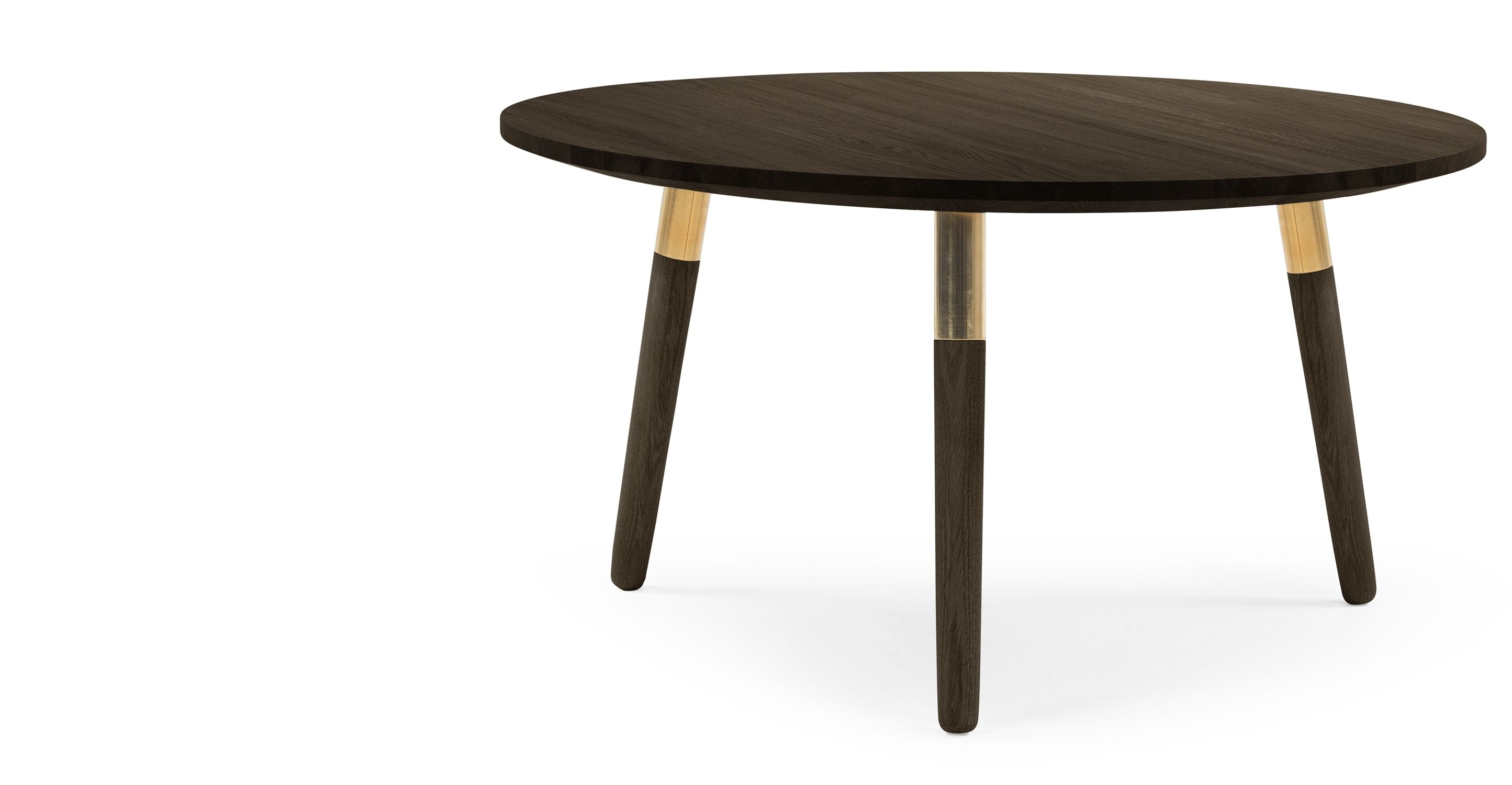 Range Round Coffee Table Dark Stain Ash And Brass Home Coffee Tables Round Coffee Table Coffee Table [ 1500 x 2889 Pixel ]