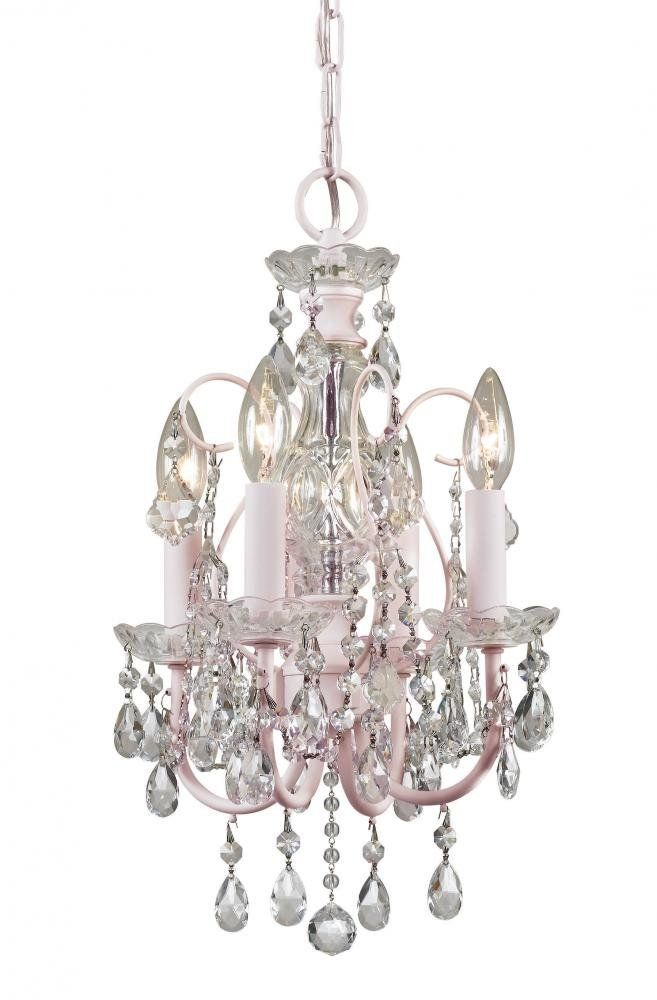 Crystorama 3224-BH-CL-MWP Crystal Accents Four Light Mini Chandelier ...