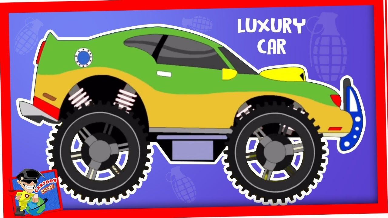 Monster Car Cartoon With Videos For Children And Kids With Luxury