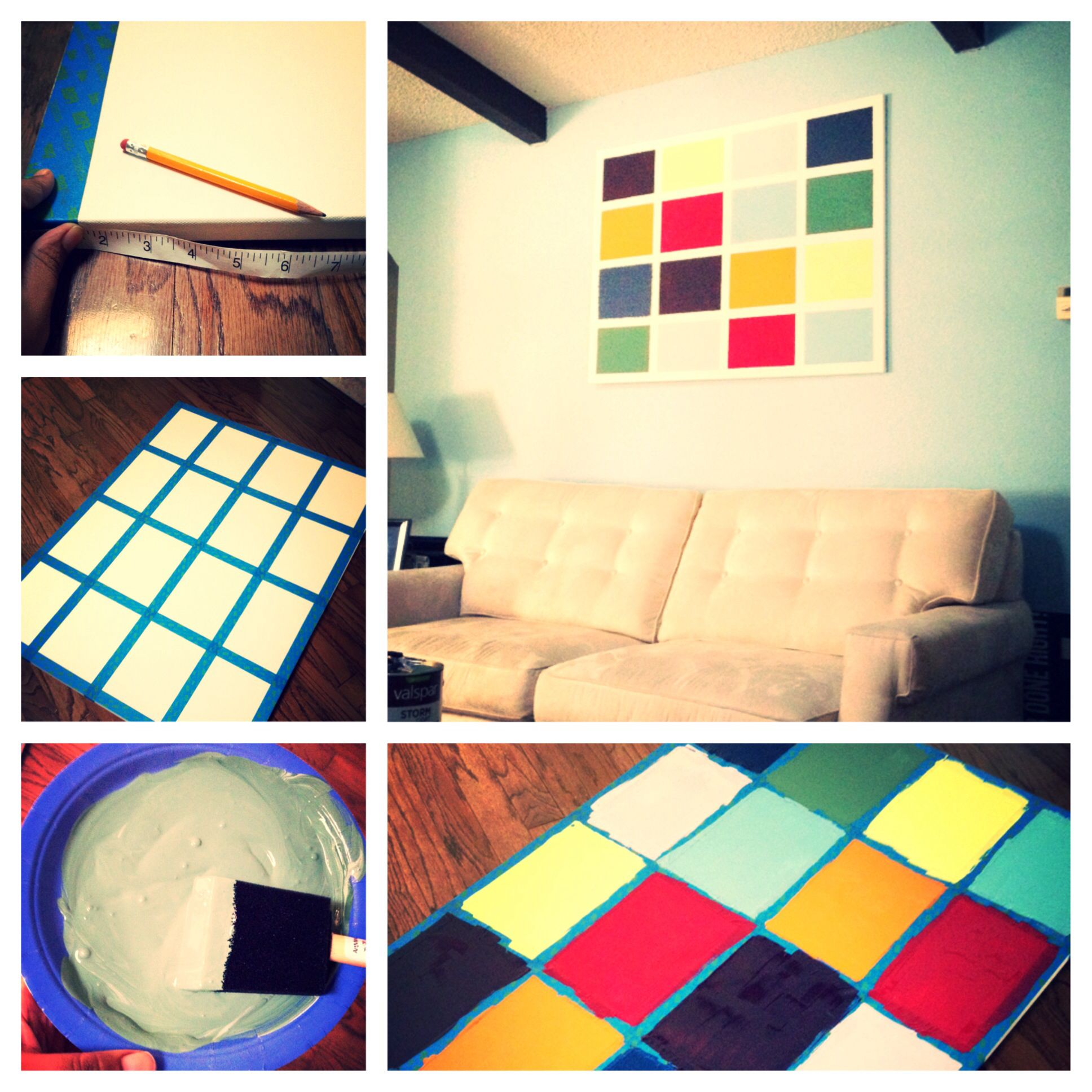 Easy DIY art project. Huge 24x36 canvas on sale at Michael\'s for ...