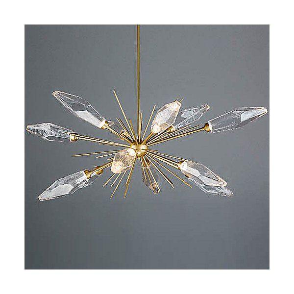 hammerton studio rock crystal oval starburst led chandelier rh pinterest com