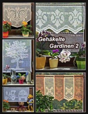 Neues Buch Elke Selke Gehäkelte Gardinen 2 Curtains