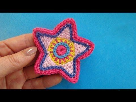 Как вязать звезду Сrochet star pattern Вязание крючком