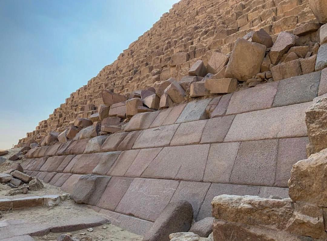 """Megalithic Marvels on Instagram: """"""""Massive granite casing stones on the  base of the Menkaure pyramid, the same megalithic building style with the  protruding sto…"""