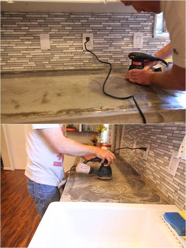 Removing Stains Resealing Concrete Countertops Concrete