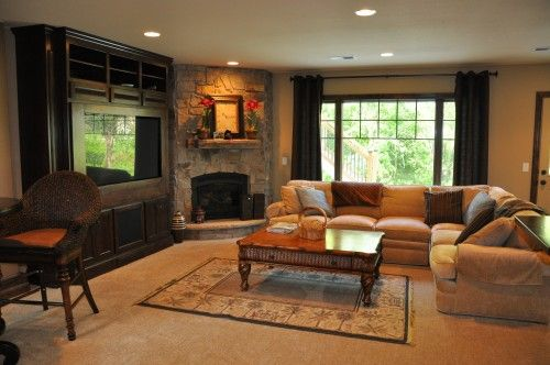Fireplace Tv Placement Sectional Flipped Fireplace Furniture Living Room With Fireplace Fireplaces Layout