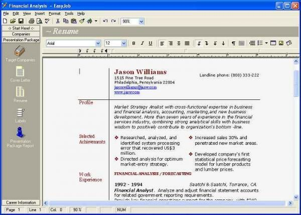 Resume Builder Download -    wwwjobresumewebsite resume - easyjob resume builder