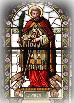 The Feast Day Of St. Valentine, This Day 14th February, Patron Saint Of