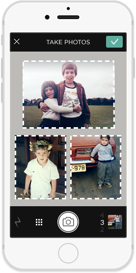 Share whole albums Photomyne Scanner app, Mobile