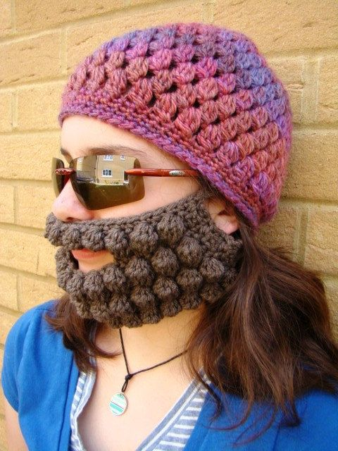 detachable beard! | Beanie pattern, Crochet hats, Beard beanie