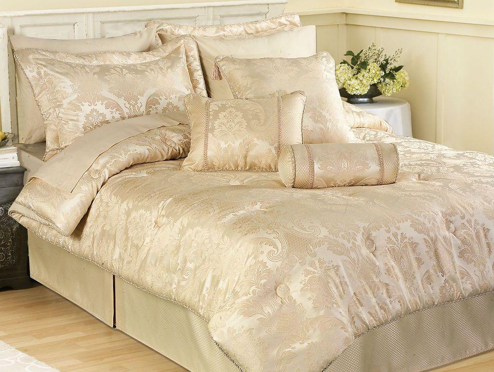Cream Damask Bedding Set Damask Bedding Bed Spreads