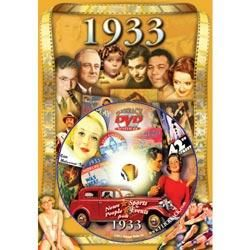 1933 DVD in Retro Style Greeting Card for 80th Birthday