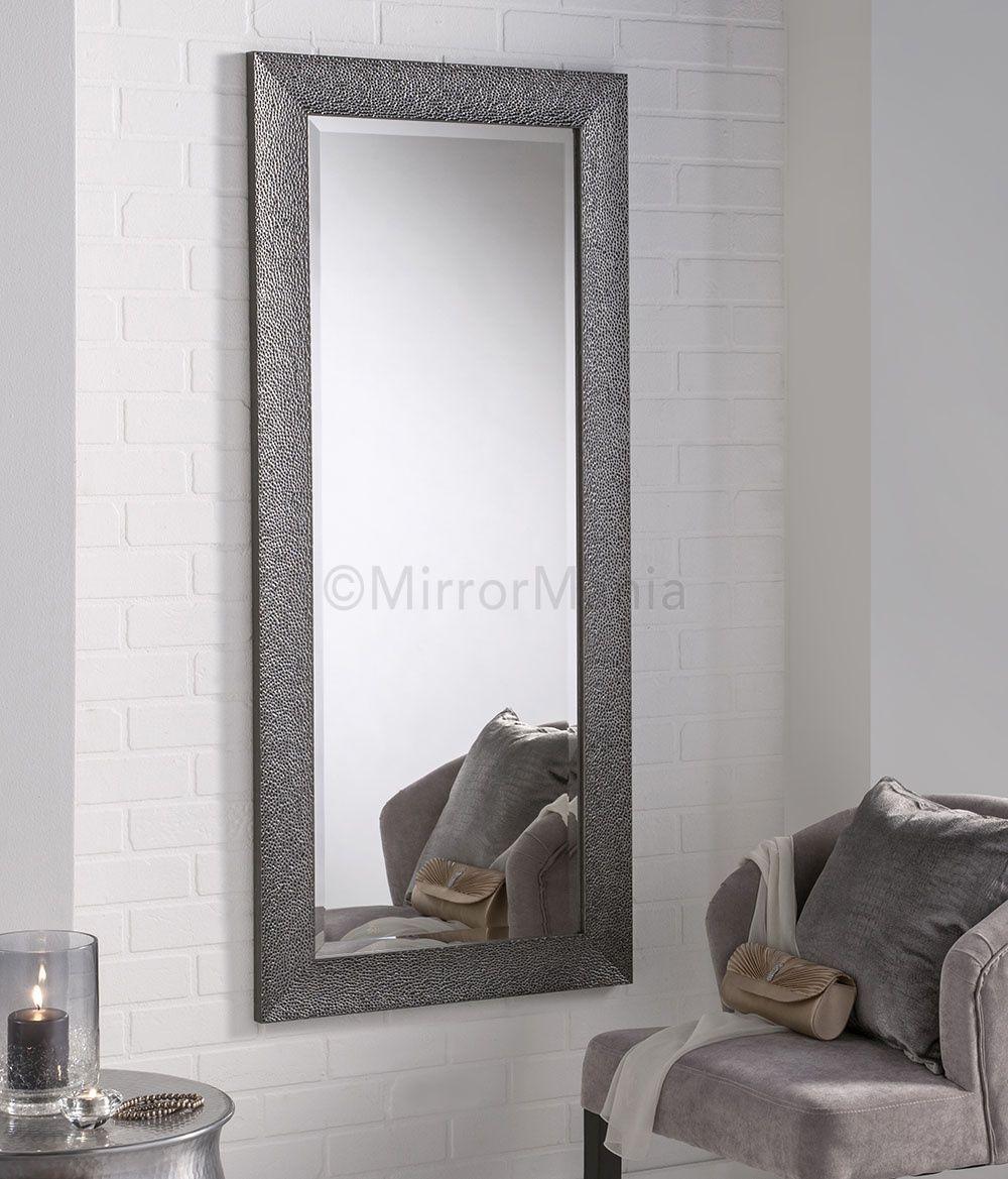hades modern gun metal grey framed wall mirror all mirrors mirrors