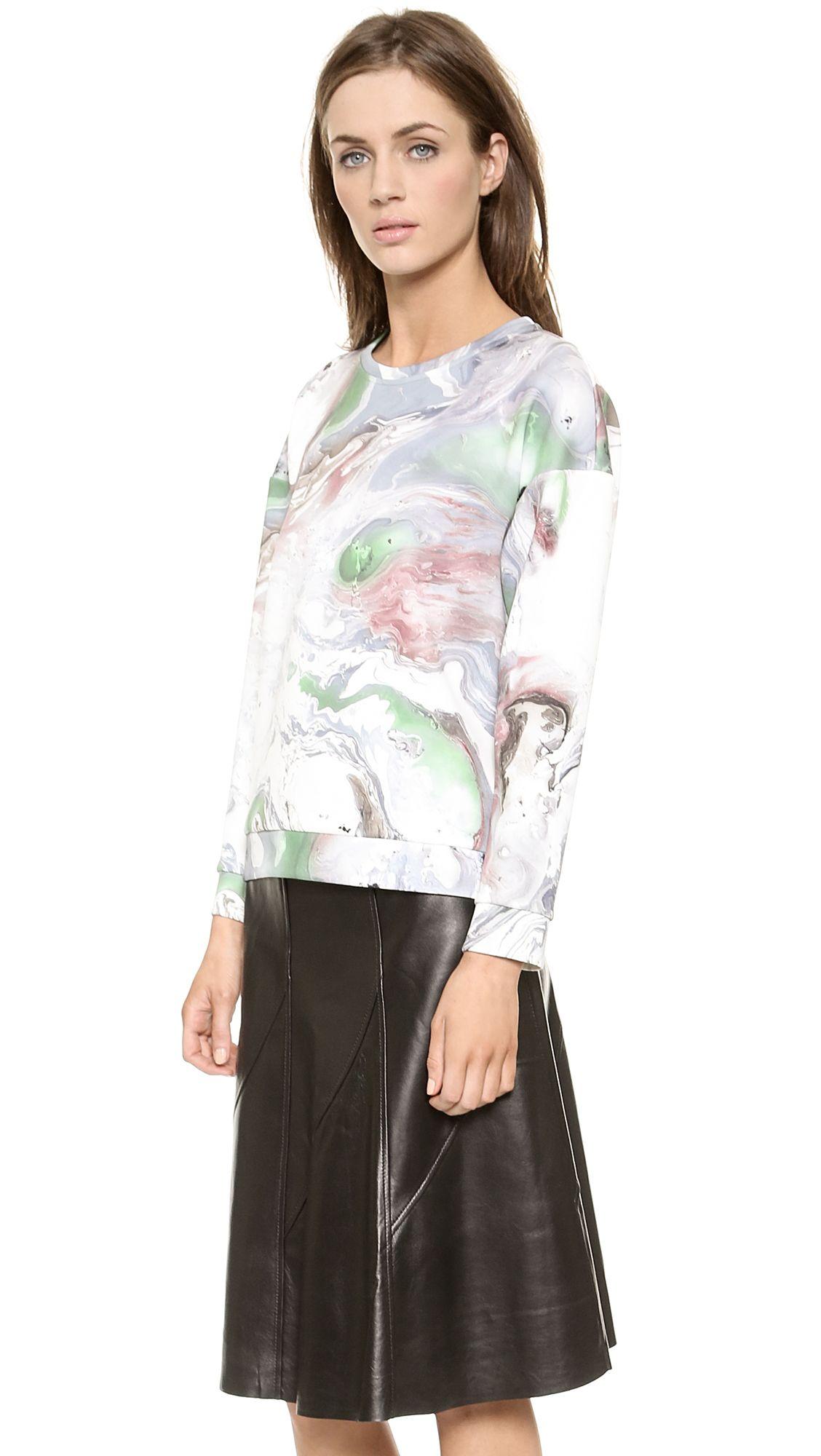 Etre Cecile Cheetah Insignia Short Sleeve Sweatshirt | SHOPBOP
