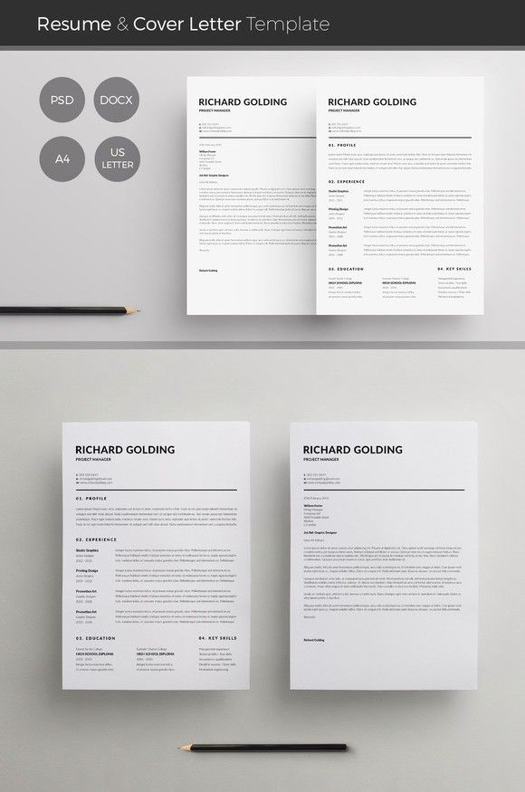 Word Resume  Cover Letter Template Perfect Resume $600 Moving