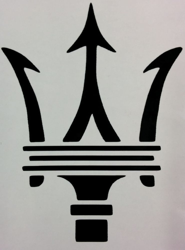 Details about Maserati Trident Logo Vinyl Decal home ...