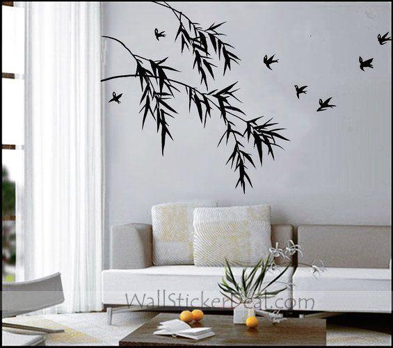Birds With Bamboo Oriental Wall Sticker WallStickerDealcom - Vinyl wall decals bamboo