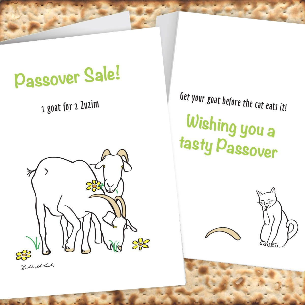 Passover goat for sale card for two zuzim chad gadya instant passover goat for sale card for two zuzim chad gadya instant download print kristyandbryce Choice Image