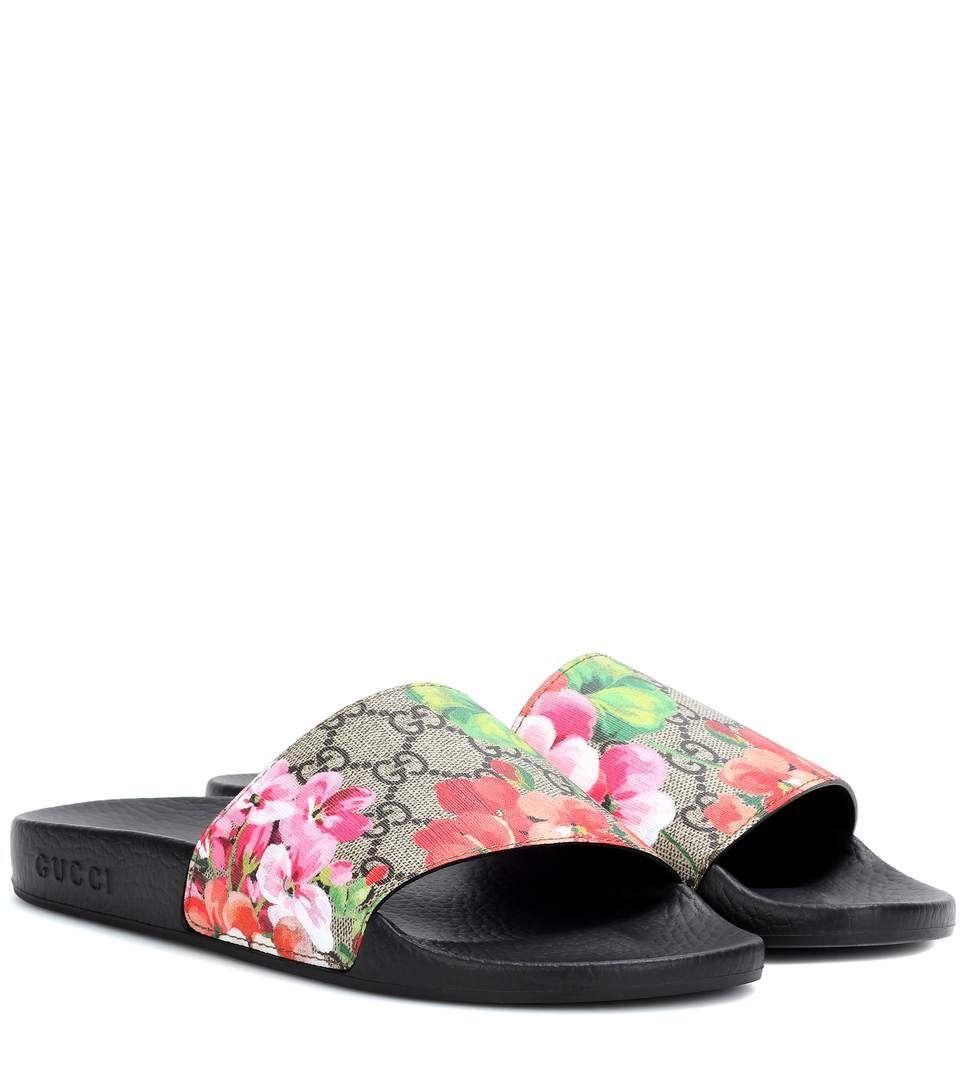 32d6197a0a1d GUCCI Gg Blooms Supreme Slip-On Sandals.  gucci  shoes  sandals ...