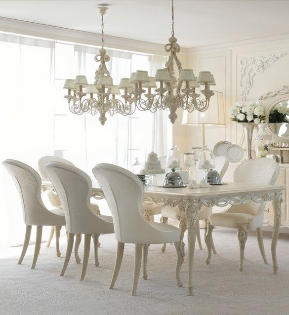 Luxurious Designer Rectangle Italian Seat Dining Table Set