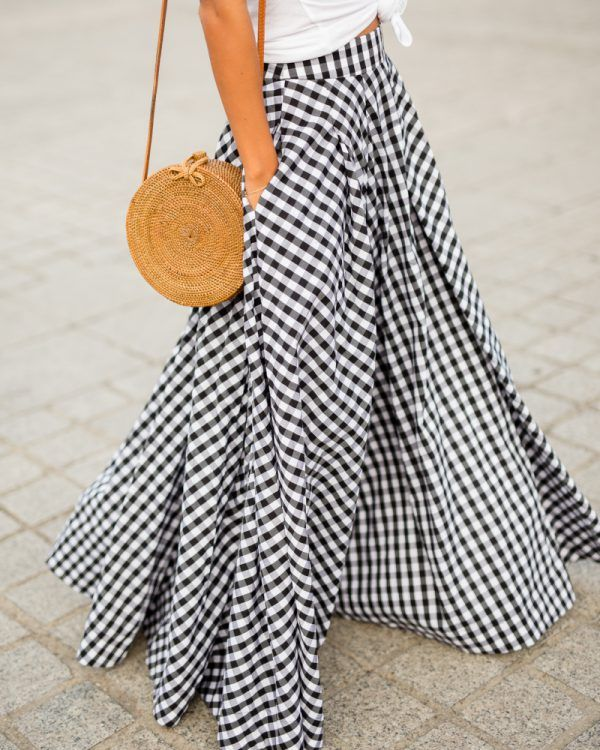 See it sew it : coudre une maxi-jupe vichy