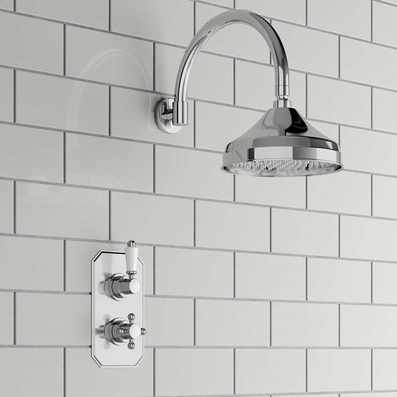 Arabella Traditional Concealed Shower Valve Fixed Shower Head Fixed Shower Head Shower Heads Shower Valve