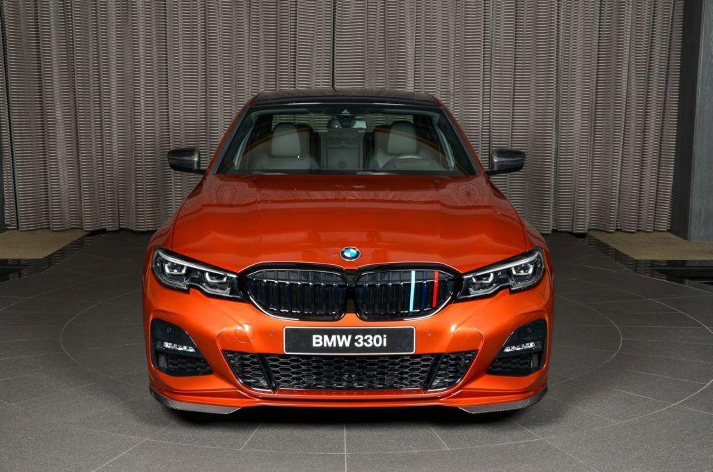 BMW 3er G20 in Sunset Orange 330i mit M Performance