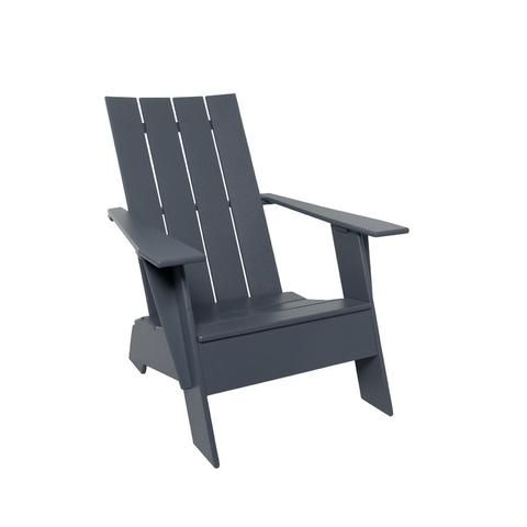 adirondack straight back compact chair charcoal grey high